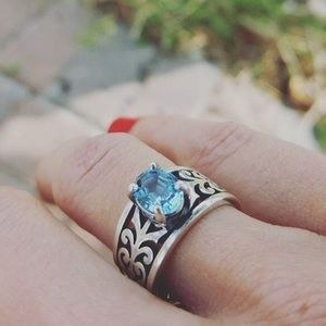 James avery adoree ring with blue topaz